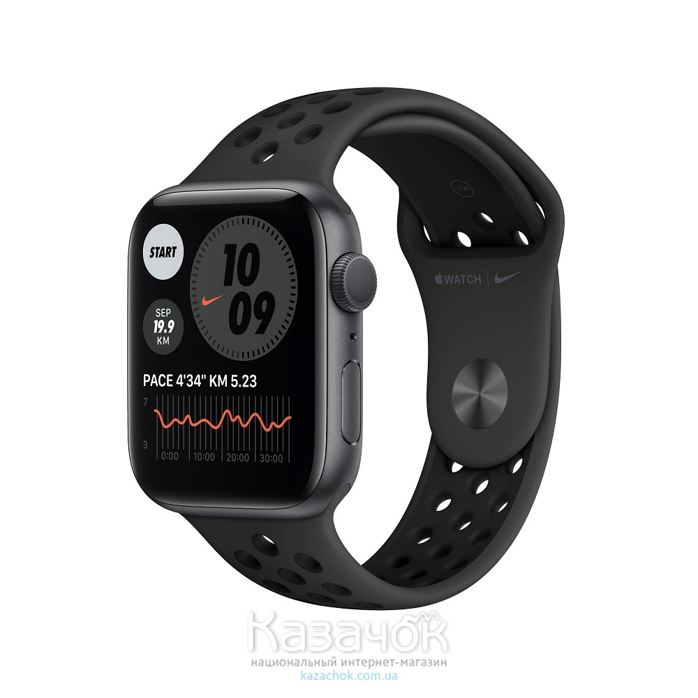 Смарт-часы Apple Watch Nike SE GPS 44mm Space Gray Aluminium Case with Anthracite/Black Nike Sport Band (MYYK2)