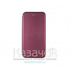 Чехол-книжка Premium Leather Case для Samsung A01/A015 2020 Burgundy