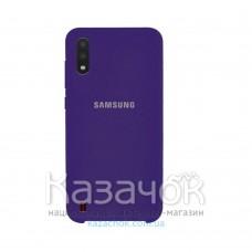 Силиконовая накладка Silicone Case для Samsung A01 2020 A015 Violet