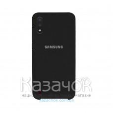 Силиконовая накладка Silicone Case для Samsung A01 2020 A015 Black