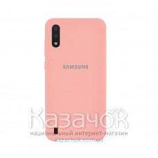 Силиконовая накладка Silicone Case для Samsung A01 2020 A015 Peach