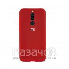 Силиконовая накладка Silicone Case для Xiaomi Redmi 8 Red