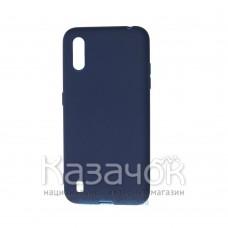 Силиконовая накладка SMTT- Soft Touch для Samsung A01/A015 Blue