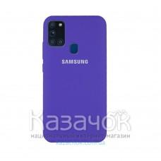 Силиконовая накладка Silicone Case для Samsung A21s 2020 A217 Violet