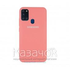 Силиконовая накладка Silicone Case для Samsung A21s 2020 A217 Peach