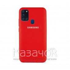 Силиконовая накладка Silicone Case для Samsung A21s 2020 A217 Red
