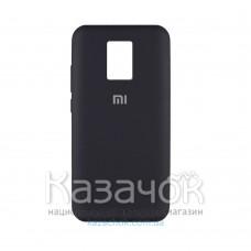 Силиконовая накладка Silicone Case для Xiaomi Redmi Note 9 Pro/ Note 9S Black
