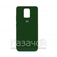 Силиконовая накладка Silicone Case для Xiaomi Redmi Note 9 Pro/ Note 9S Dark Green