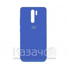 Силиконовая накладка Silicone Case для Xiaomi Redmi 9 Blue
