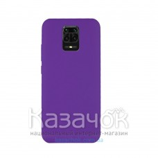Силиконовая накладка Silicone Case для Xiaomi Redmi Note 9 Pro/ Note 9S Violet