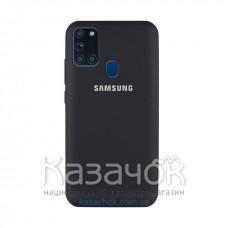 Силиконовая накладка Silicone Case для Samsung A21s/A217 2020 Black