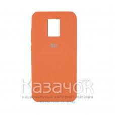 Силиконовая накладка Silicone Case для Xiaomi Redmi Note 9 Pro/ Note 9S Orange