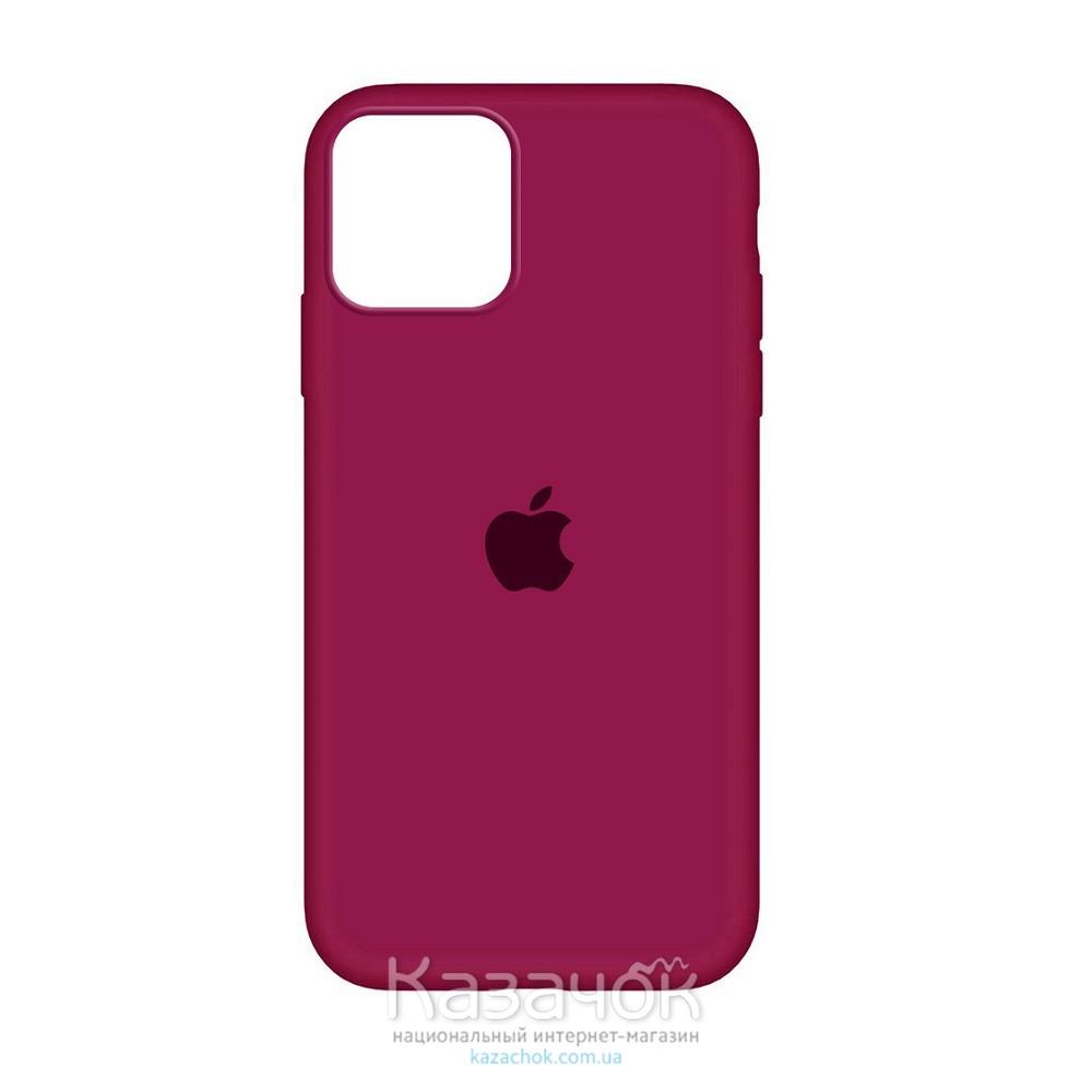 Накладка Silicone Case для iPhone 12 Pro Burgundy