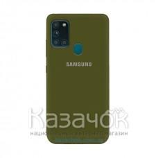 Силиконовая накладка Silicone Case для Samsung A21s/A217 2020 Deep Olive