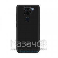 Силиконовая накладка Soft Silicone Case для Xiaomi Redmi Note 9 Pro/ Note 9 Black