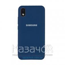 Силиконовая накладка Soft Silicone Case для Samsung A01/A013 2020 Core Blue