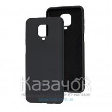 Силиконовая накладка Soft Silicone Case для Xiaomi Redmi Note 9 Pro/ Note 9S Black