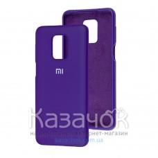 Силиконовая накладка Soft Silicone Case для Xiaomi Redmi Note 9 Pro/ Note 9S Violet