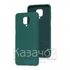 Силиконовая накладка Soft Silicone Case для Xiaomi Redmi Note 9 Pro/ Note 9S Dark Green