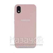 Силиконовая накладка Soft Silicone Case для Samsung A01/A013 2020 Core Peach