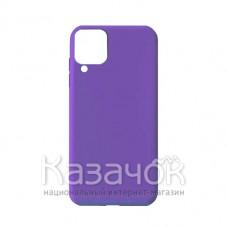 Силиконовая накладка Soft Silicone Case для Samsung A12 2021 Violet