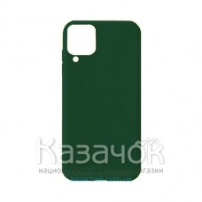 Силиконовая накладка Soft Silicone Case для Samsung A12 2021 Dark Green