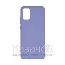 Силиконовая накладка Soft Silicone Case для Samsung A02s 2021 Violet