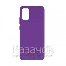 Силиконовая накладка Soft Silicone Case для Samsung A02s 2021 Purple
