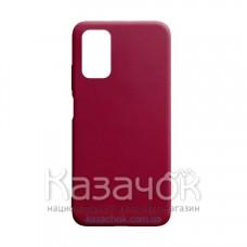Силиконовая накладка Silicone Case для Xiaomi Poco M3 Cherry