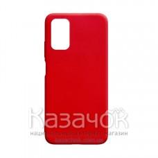 Силиконовая накладка Silicone Case для Xiaomi Poco M3 Red