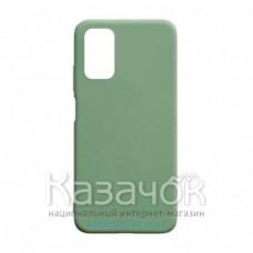 Силиконовая накладка Silicone Case для Xiaomi Poco M3 Green