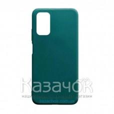 Силиконовая накладка Silicone Case для Xiaomi Poco M3 Dark Green