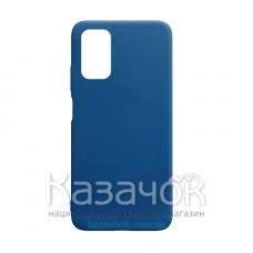 Силиконовая накладка Silicone Case для Xiaomi Poco M3 Dark Blue