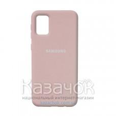 Силиконовая накладка Silicone Case для Samsung A02S/A025 2021 Sand Pink
