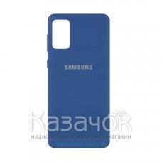 Силиконовая накладка Silicone Case для Samsung A02S/A025 2021 Navy Blue