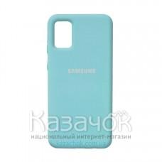 Силиконовая накладка Silicone Case для Samsung A02S/A025 2021 Motton Blue
