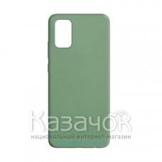 Силиконовая накладка Silicone Case для Samsung A02S/A025 2021 Olive