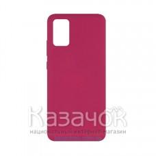 Силиконовая накладка Silicone Case для Samsung A02S/A025 2021 Rose Red