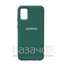 Силиконовая накладка Silicone Case для Samsung A02S/A025 2021 Pine Green