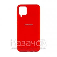 Силиконовая накладка Silicone Case для Samsung A12/A125 2021 Red