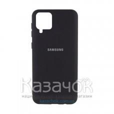 Силиконовая накладка Silicone Case для Samsung A12/A125 2021 Black