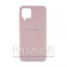 Силиконовая накладка Silicone Case для Samsung A12/A125 2021 Sand Pink