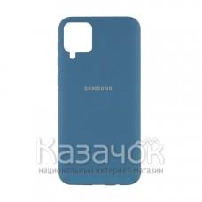 Силиконовая накладка Silicone Case для Samsung A12/A125 2021 Navy Blue