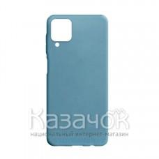 Силиконовая накладка Silicone Case для Samsung A12/A125 2021 Motton Blue