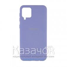 Силиконовая накладка Silicone Case для Samsung A12/A125 2021 Lilac