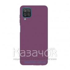 Силиконовая накладка Silicone Case для Samsung A12/A125 2021 Purple