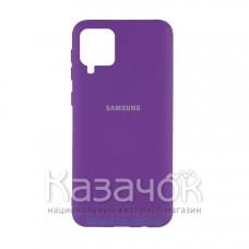 Силиконовая накладка Silicone Case для Samsung A12/A125 2021 Violet