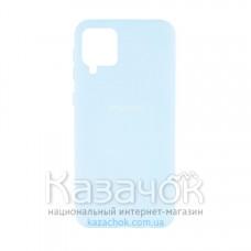 Силиконовая накладка Silicone Case для Samsung A12/A125 2021 Azure
