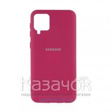 Силиконовая накладка Silicone Case для Samsung A12/A125 2021 Rose Red
