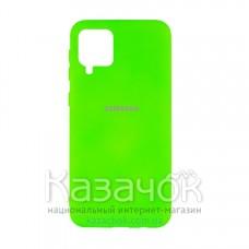 Силиконовая накладка Silicone Case для Samsung A12/A125 2021 Lime